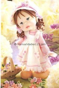 Muñeca en porcelana fria topper, porcelana fria, fimo, cold porcelain, polym clay, pocelana fria, en porcelana, biscuit, photography