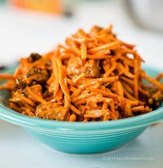 curried turmeric carrot slaw salad