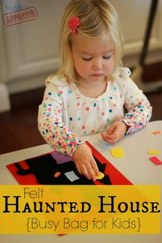 Toddler Approved!: Play with Colors: Felt Haunted House {Busy Bag for Kids}