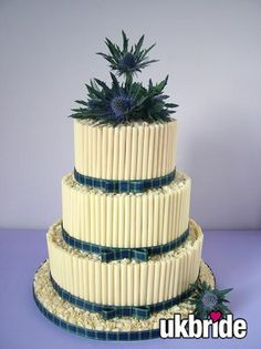 Thistle wedding cake