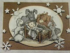 Christmas Nativity with Animals Art Impressions Rubber Stamps. card