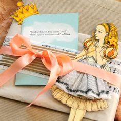 packaging, paper dolls, stamping, ribbon