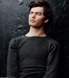 Lewis Powell, 1865 - Painstakingly colorized photo of John Wilkes Booth conspirator to assassinate President Lincoln