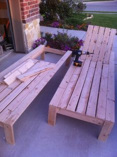 DIY patio chaise lounge