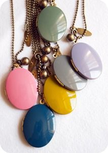 colors, taupe, bridesmaid gifts, necklac, color stories, jewelry shop, locket, brass, enamels