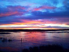 Sunset in Nebraska,   (Nebraska Sandhills)
