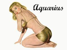 Aquarius Zodiac PinUp Girl