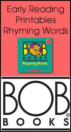 Early Reading Printables: BOB Books Rhyming Words Books 3 & 4 | 3 Dinosaurs