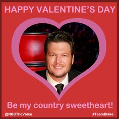 Do you have a country cutie to call your own this Valentine's? #TeamBlake TheVoice #WellOkay