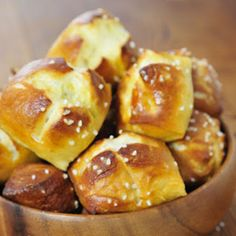 Seriously one of the easiest pins I've completed - and we all loved them! :-) Delicious Soft Pretzel Bites, Once you try these you'll never go back to store bought.