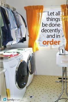 FamilyShare.com | Ruler of the laundry: Organize your laundry room with these simple ideas