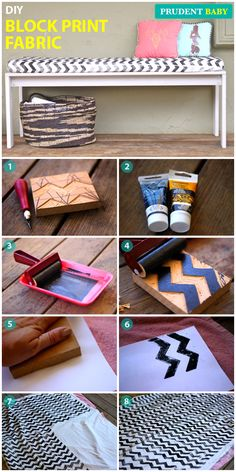 Super simple DIY patterned fabric, AMAZING tutorial from @Prudent Baby !
