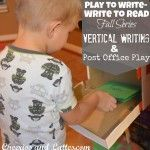 Play to Write-Write to Read: Week 5  Vertical Writing & Post Office Play