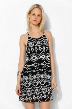 Staring At Stars Mesh Racerback Tank Dress #urbanoutfitters