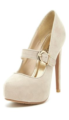 Nude Mary Jane Pumps ♥