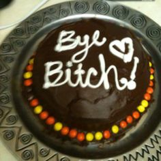 My going away cake idea?