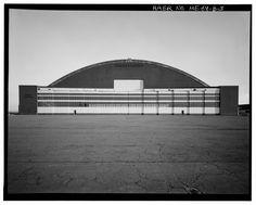 Arch Hangar.  Loring Air Force Base, Maine.