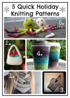 5 Quick Holiday Knits #knitting #holidays #gifts #Christmas #patterns