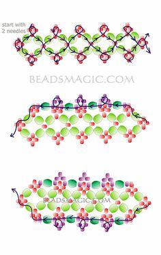 Free pattern for bracelet Aphrodite