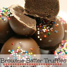Brownie Batter Truffles | tempting thyme