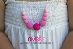 Kid Made Ombre Wooden Beaded Necklace | Mama Papa Bubba