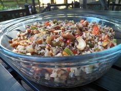 Patricia Corwell's  Wild Rice Salad with Cashews