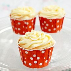 An orange-vanilla cupcake with orange cream cheese frosting and a surprise marshmallow filling. Tastes like a creamsicle!