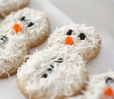Snowman sugar cookies!
