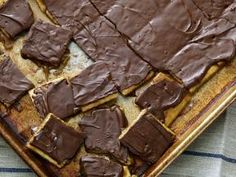 """Trisha Yearwood """"crack"""" - i make this all the time for work events. I've made it with pretzels as the base instead of Saltines too. People love it!"""
