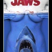 Jaws Shark bodypaint - Dewayne Flowers