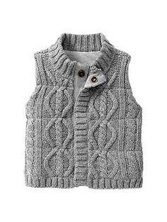 Cable knit vest | Baby Gap