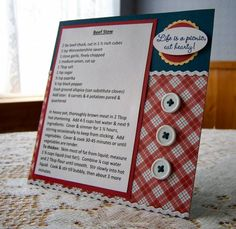 Beef Stew 6x6 Recipe Card