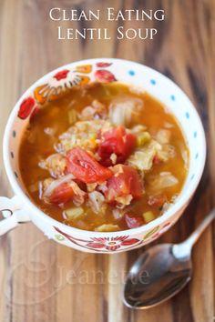 Clean Eating Lentil Soup © Jeanette's Healthy Living @Jeanette Lai Thomas Lai Thomas | Jeanette's Healthy Living