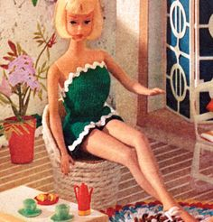 Vintage Knitting Pattern   1960s Mod Barbie Clothes  by 2ndlookvintage, $3.50