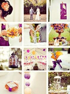 orange and purple wedding ideas