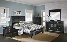 Charleston Bay Black II Bedroom Collection |