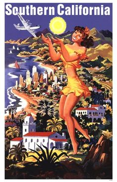 Unknown - United Air Southern California - art prints and posters