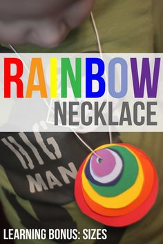 Sort by Size Activity to Make a Rainbow Necklace