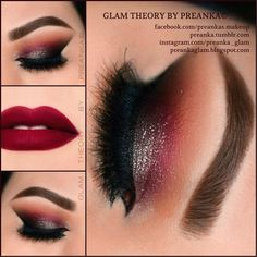 Instagram photo by @preanka_glam (Glam Theory by Preanka) | MayaMia and Tamanna palettes by Anastasia Beverly Hills on eyes.