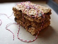 healthy homemade granola bars.