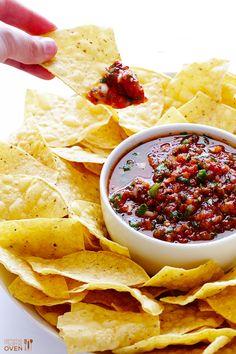 Restaurant-Style Salsa Recipe   gimmesomeoven.com
