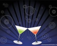 This is a Martini beverage powerpoint template ready for download and use in your next powerpoint presentation