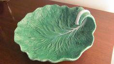 "Portuguese Majolica Pottery ""Cabbage Leaf"" Bowl"