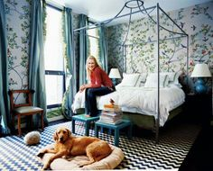 decor, interior, canopy beds, bedroom wallpaper, blue bedrooms