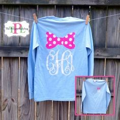 Monogrammed Bow T-Shirt