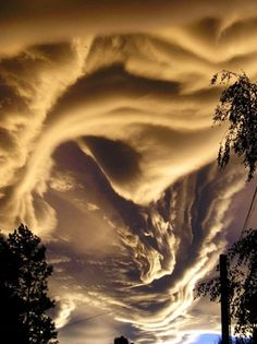 Asperatus Clouds. Surreal!