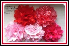 Mini Flower Snaps  www.facebook.com/DaintyLions11  www.daintylions.com