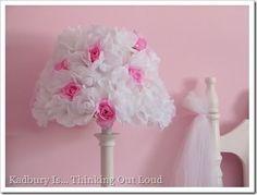 DIY:: Rose Covered Lamp Shade ~ Madigan Made { simple DIY ideas }