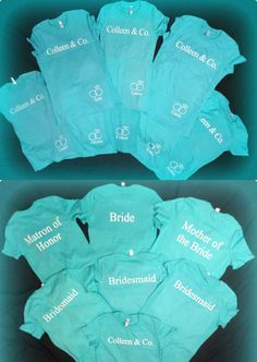 Set of bridal wedding party Tiffany and Co. by CustomDesigns43, $12.00