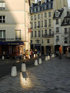 through the streets of Paris
